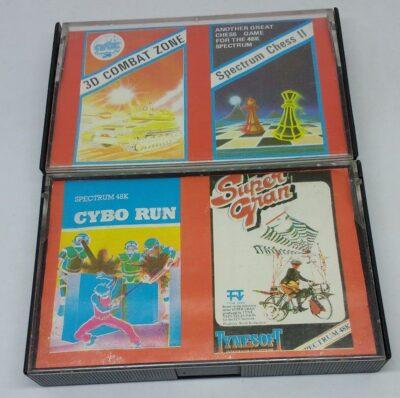 3D Combat Zone / Spectrum Chess II / Cybo Run / Super Gran