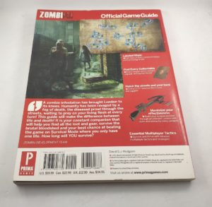 ZombiU Official Game Guide - Rear