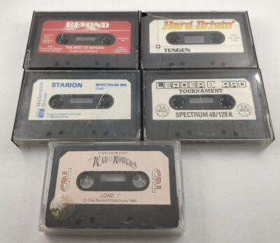 Five-Cassette Spectrum Game Bundle