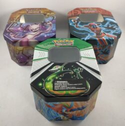Empty Pokemon Card Tins x 3